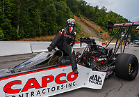 Jun 18, 2017; Bristol, TN, USA; NHRA top fuel driver Steve Torrence during the Thunder Valley Nationals at Bristol Dragway. Mandatory Credit: Mark J. Rebilas-USA TODAY Sports