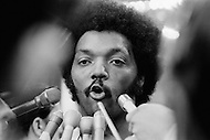 Miami, Florida, USA. July 1972. The religious and political leader Reverend Jesse Jackson speaking at the 1972 Miami Democratic Convention. In 1971 Jackson resigned from the Martin Luther King, Jr.organization, SCLC (Southern Christian Leadership Conference) to found his own organization, People United to Save Humanity (PUSH).