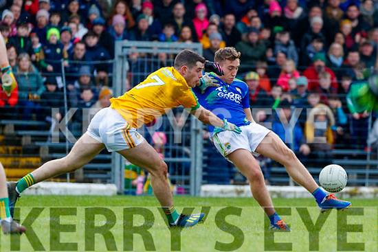 Dara Moynihan, Kerry in action against Donal Keogan, Meath during the Allianz Football League Division 1 Round 4 match between Kerry and Meath at Fitzgerald Stadium in Killarney, on Sunday.