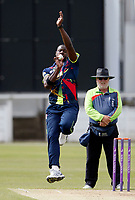Carlos Braithwaite bowls for Kent during the T20 friendly between Kent and the Netherlands at the St Lawrence Ground, Canterbury, on July 3, 2018
