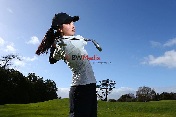 Munchin Keh. Espirito Santo Team Photoshoot, Royal Auckland Golf Course, Manukau, Auckland, Friday 8 August 2014. Photo: Simon Watts/www.bwmedia.co.nz <br /> All images &copy; NZ Golf and BWMedia.co.nz