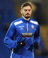Bolton Wanderers' Dorian Dervite during the pre-match warm-up <br /> <br /> Photographer Kevin Barnes/CameraSport<br /> <br /> The EFL Sky Bet Championship - Cardiff City v Bolton Wanderers - Tuesday 13th February 2018 - Cardiff City Stadium - Cardiff<br /> <br /> World Copyright &copy; 2018 CameraSport. All rights reserved. 43 Linden Ave. Countesthorpe. Leicester. England. LE8 5PG - Tel: +44 (0) 116 277 4147 - admin@camerasport.com - www.camerasport.com