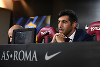 Paulo Fonseca attends his first press conference as AS Roma coach. <br /> Roma 08/07/2019 Centro Sportivo Trigoria <br /> Press Conference <br /> Football Calcio Serie A 2019/2020 <br /> Photo Andrea Staccioli / Insidefoto