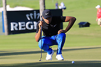 Julian Suri (USA) on the 17th green during Friday's Round 2 of the 2018 Turkish Airlines Open hosted by Regnum Carya Golf &amp; Spa Resort, Antalya, Turkey. 2nd November 2018.<br /> Picture: Eoin Clarke | Golffile<br /> <br /> <br /> All photos usage must carry mandatory copyright credit (&copy; Golffile | Eoin Clarke)