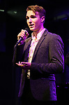 Luke Hickey performing onstage at Birdland Theater during the Media Open House Cocktail Party at the Birdland Theater on September 20, 2018 in New York City.