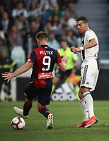 Calcio, Serie A: Juventus - Genoa, Turin, Allianz Stadium, October 20, 2018.<br /> Juventus' Cristiano Ronaldo scores during the Italian Serie A football match between Juventus and Genoa at Torino's Allianz stadium, October 20, 2018.<br /> UPDATE IMAGES PRESS/Isabella Bonotto