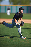 Michael May (8) of Clear Springs High School in League City, Texas during the Baseball Factory All-America Pre-Season Tournament, powered by Under Armour, on January 13, 2018 at Sloan Park Complex in Mesa, Arizona.  (Zachary Lucy/Four Seam Images)