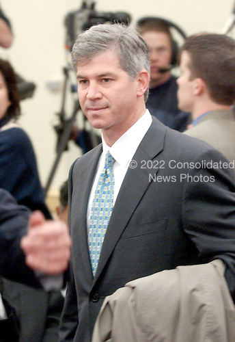 "Washington, DC - February 7, 2002 --Andrew S. Fastow, Former Chief Financial Officer; Enron Corporation arrives for the hearing of the United States House of Representatives Energy and Commerce Subcommittee on Oversight and Investigations on ""The Financial Collapse of the Enron Corporation""..Credit: Ron Sachs / CNP"