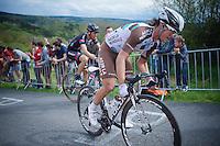 Carlos Betancur (COL/AG2R-LaMondiale) up La Redoute (1650m/9.7%)<br /> <br /> 101th Liège-Bastogne-Liège 2015