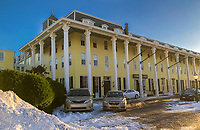 Snow surrounds Congress Hall Friday, January 05, 2018 in Cape May, New Jersey. (Photo by William Thomas Cain/Cain Images)