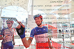 French National Champion Anthony Roux (FRA) Groupama-FDJ signs on before the start of Stage 3 of the 2019 UAE Tour, running 179km form Al Ain to Jebel Hafeet, Abu Dhabi, United Arab Emirates. 26th February 2019.<br /> Picture: LaPresse/Massimo Paolone | Cyclefile<br /> <br /> <br /> All photos usage must carry mandatory copyright credit (© Cyclefile | LaPresse/Massimo Paolone)