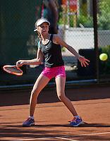 Netherlands, Dordrecht, August 03, 2015, Tennis,  National Junior Championships, NJK, TV Dash 35, Michelle Vortreffich<br /> Photo: Tennisimages/Henk Koster