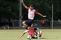Nashville, TN - June 29, 2017: Joe Corona and Cristian Roldan during Training @ Lipscomb University prior to their 2017 Gold Cup.