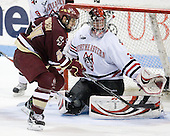 Matt Lombardi (BC - 24), Chris Rawlings (NU - 37) - The Northeastern University Huskies defeated the Boston College Eagles 3-2 on Friday, February 19, 2010, at Matthews Arena in Boston, Massachusetts.