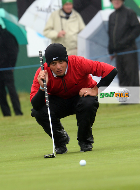 Francesco Molinari who is leading after the first day at the Irish Open in Co.Louth Golf Club,  Baltray...Photo NEWSFILE/Jenny Matthews.(Photo credit should read Jenny Matthews/NEWSFILE)....This Picture has been sent you under the condtions enclosed by:.Newsfile Ltd..The Studio,.Millmount Abbey,.Drogheda,.Co Meath..Ireland..Tel: +353(0)41-9871240.Fax: +353(0)41-9871260.GSM: +353(0)86-2500958.email: pictures@newsfile.ie.www.newsfile.ie.FTP: 193.120.102.198.
