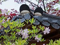 Dächer im Changdeokgung Palast, Seoul, Südkorea, Asien, UNESCO-Weltkulturerbe<br /> roofs inside palace Changdeokgung,  Seoul, South Korea, Asia UNESCO world-heritage
