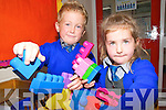 Liselton Twins : Twins Ronan & Aimee Buckley playing with toys on their first day at school in Liselton.
