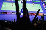 Tai Tzu Ying of Taiwan competes against Pusarla V. Sindhu of India during their Women's Singles Final of YONEX-SUNRISE Hong Kong Open Badminton Championships 2016 at the Hong Kong Coliseum on 27 November 2016 in Hong Kong, China. Photo by Marcio Rodrigo Machado / Power Sport Images