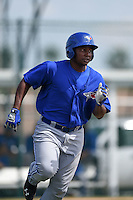 Toronto Blue Jays Gabriel Cenas (38) during a minor league spring training game against the Pittsburgh Pirates on March 21, 2015 at Pirate City in Bradenton, Florida.  (Mike Janes/Four Seam Images)