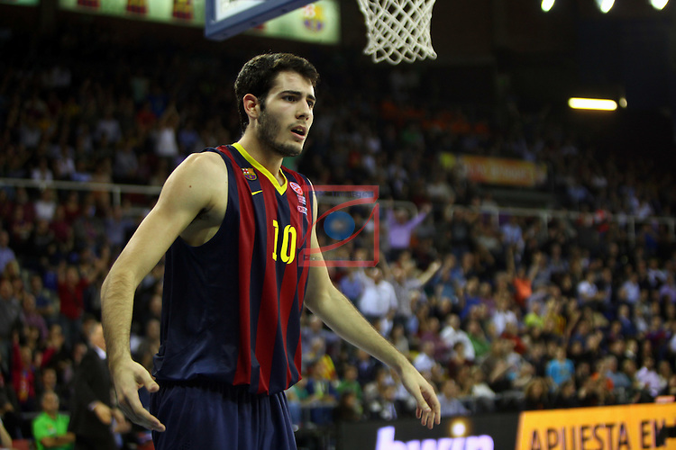 Euroleague Basketball-Regular Season Round 5.<br /> FC Barcelona vs Panathinaikos Athens: 78-69.<br /> Alex Abrines.
