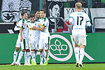 04.11.2018, Borussia Park , Moenchengladbach, GER, 1. FBL,  Borussia Moenchengladbach vs. Fortuna Duesseldorf,<br />  <br /> DFL regulations prohibit any use of photographs as image sequences and/or quasi-video<br /> <br /> im Bild / picture shows: <br /> die Gladbacher freuen sich &uuml;ber das 3:0 <br /> <br /> Foto &copy; nordphoto / Meuter