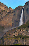 Upper Yosemite Fall at Dawn in Spring, Cook's Meadow, Yosemite National Park