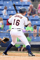 July 7th 2008:  Third baseman Emmanuel Garcia of the Binghamton Mets, Class-AA affiliate of the New York Mets, during a game at NYSEG Stadium in Binghamton, NY.  Photo by:  Mike Janes/Four Seam Images