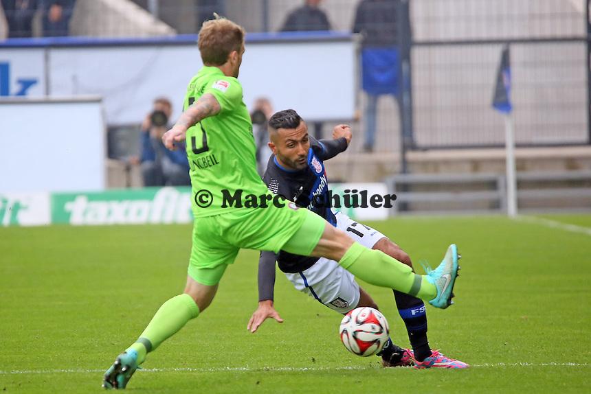 Joan Oumari (FSV) setzt sich durch - FSV Frankfurt vs. FC Erzgebirge Aue, Frankfurter Volksbank Stadion
