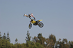 motorcycle jump near Rose Bowl