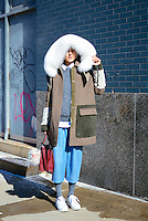Linda Tol attends Day 2 of New York Fashion Week on Feb 13, 2015 (Photo by Hunter Abrams/Guest of a Guest)