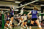 DENTON, TX - OCTOBER 12: North Texas Mean Green Volleyball vs. Louisiana Tech at Mean Green Olympic Village Volleyball in Denton on October 12, 2018 in Denton, Texas Photo Credit - Rick Yeatts Photography / Matt Pearce