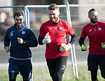 St Johnstone Training&hellip;27.10.17<br />Zander Clark pictured talking with Richie Foster during training this morning at McDiarmid Park ahead of tomorrows trip to Partick Thistle<br />Picture by Graeme Hart.<br />Copyright Perthshire Picture Agency<br />Tel: 01738 623350  Mobile: 07990 594431