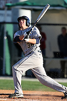 February 26, 2010:  First Baseman T.J. Kuban of the West Virginia Moutaineers during the Big East/Big 10 Challenge at Bright House Field in Clearwater, FL.  Photo By Mike Janes/Four Seam Images