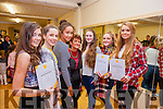 Pictured at the Annual Awards night at the Tenacity School of Performing Arts were students who received over 91% in their exams were, from left: Caoimhe McEnery, Cora Fitzgerald, Doirean Thomas, Geraldine O'Connor (instructor), Grace Fitzmaurice, Andrea O'Callaghan and Tara Moriarty.