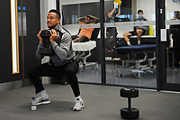 Martin Olsson of Swansea City in the gym during the Swansea City Training at The Fairwood Training Ground, in Swansea, Wales, UK. Wednesday 02 November 2018