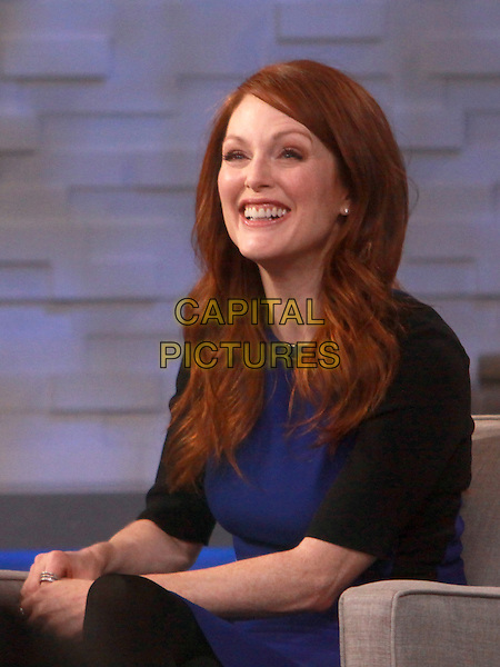 NEW YORK, NY - FEBRUARY 26: Julianne Moore at Good Morning America promoting her new film, 'Non-Stop' on February 26, 2014 in New York City, NY., USA.<br /> CAP/MPI/RW<br /> &copy;RW/ MediaPunch/Capital Pictures