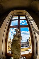 Statues, Louvre Museum, Paris, France.