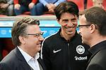 14.04.2018, BayArena, Leverkusen , GER, 1.FBL., Bayer 04 Leverkusen vs. Eintracht Frankfurt<br /> im Bild / picture shows: <br /> li Freddy Bobic Gesch&auml;ftsf&uuml;hrer (Eintracht Frankfurt),  mitte Bruno H&uuml;bner / Huebner Sportdirektor  (Eintracht Frankfurt), <br /> <br /> <br /> Foto &copy; nordphoto / Meuter