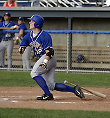 July 12, 2004:  Aaron Mathews of the Auburn Doubledays, Short-Season Single-A affiliate of the Toronto Blue Jays, during a game at Dwyer Stadium in Batavia, NY.  Photo by:  Mike Janes/Four Seam Images