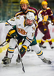 24 November 2012: University of Vermont Catamount forward Jacob Fallon, a Sophomore from Southlake, TX, in first period action against the University of Minnesota Golden Gophers at Gutterson Fieldhouse in Burlington, Vermont. The Catamounts fell to the Gophers 3-1 in the second game of their 2-game non-divisional weekend series. Mandatory Credit: Ed Wolfstein Photo