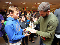 Pictured: Angel Rangel Tuesday 06 December 2016<br />Re: Swansea City FC Christmas Party at the Liberty Stadium, Wales, UK