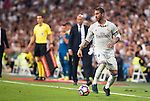 Real Madrid's player Sergio Ramos during a match of La Liga Santander at Santiago Bernabeu Stadium in Madrid. August 27, Spain. 2016. (ALTERPHOTOS/BorjaB.Hojas)