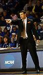 UK Coach Matthew Mitchell yells a play during the second half of the UK Women's basketball game against Southern Miss on 11/19/11 in Lexington, KY. Photo by Quianna Lige | Staff