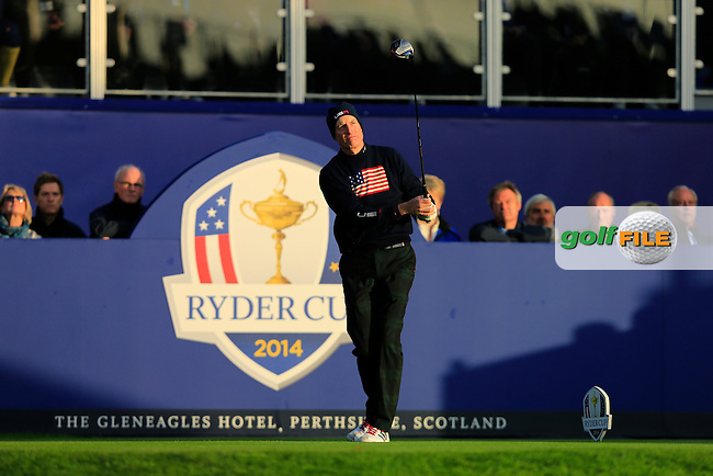 Jim Furyk (USA) during the Saturday morning Fourballs of the 2014 Ryder Cup at Gleneagles. The 40th Ryder Cup is being played over the PGA Centenary Course at The Gleneagles Hotel, Perthshire from 26th to 28th September 2014.: Picture Thos Caffrey, www.golffile.ie: \27/09/2014\