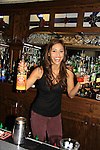 GH Lindsey Morgan and Days Of Our Lives Eric Martsolf bartend at SoapFest's Celebrity Weekend - Celebrity Karaoke Bar Bash - autographs, photos, live auction raising money for kids on November 10, 2012 at Bistro Soleil at Old Historic Marco  Island, Florida. (Photo by Sue Coflin/Max Photos)