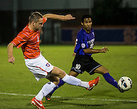 The number 24 ranked Furman Paladins took on the number 20 ranked Clemson Tigers in an inter-conference game at Clemson's Riggs Field.  Furman defeated Clemson 2-1.  Jack Metcalf (4), Martin Ontiveros (10)