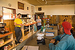 Pie-o-neer Cafe on US 60 Catherine and Paul, proprietors behind the counter