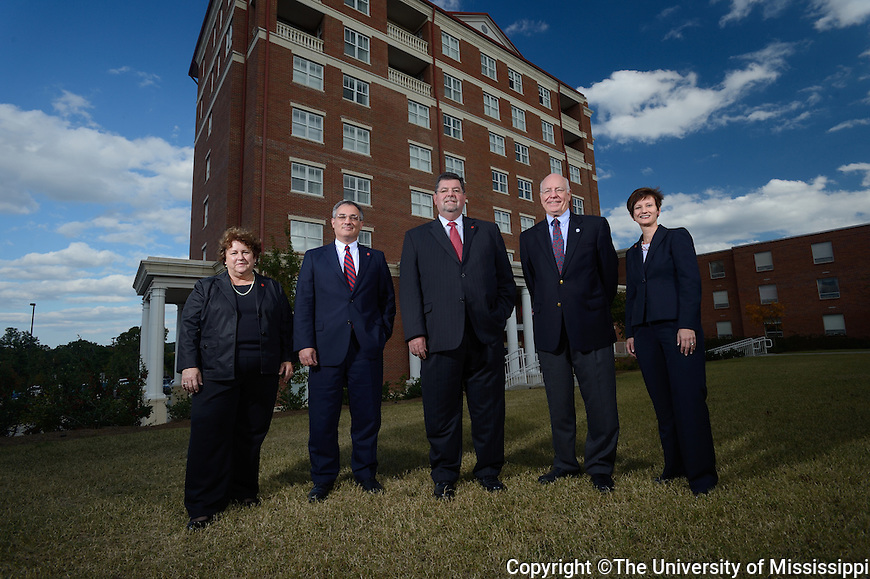 L to R:.Alice Clark, Larry Sparks, Morris Stocks, Jimmy Keeton, Brandi LaBanc.  Photo by UM Photographer Kevin Bain
