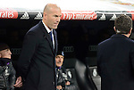 Real Madrid's coach Zinedine Zidane during Copa del Rey match between Real Madrid and Sevilla FC at Santiago Bernabeu Stadium in Madrid, Spain. January 04, 2017. (ALTERPHOTOS/BorjaB.Hojas)