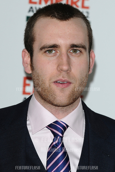 Matthew Lewis arriving for the Empire Film Awards 2012 at the Grosvenor House Hotel, London. 25/03/2012 Picture by: Steve Vas / Featureflash